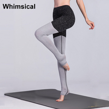 Whimsical High Waist Women Yoga Pants Skinny Running Compression Tights Elastic Sexy Workout Training Gym Fitness Tracksui