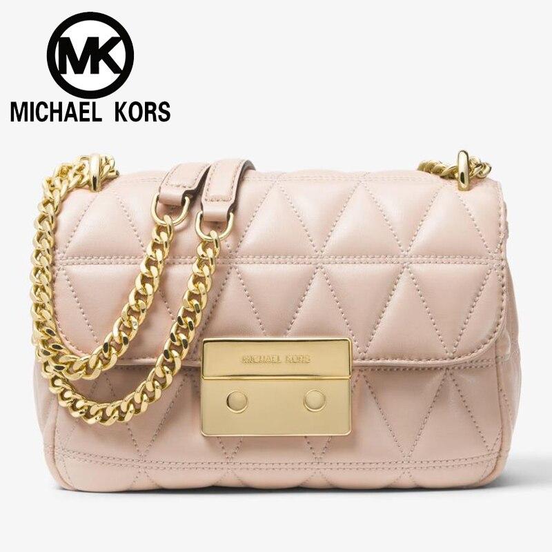 52cbecdf14a86d FSO- MICHAEL KORS Official MK Women Bag Sloan Small Quilted-Leather  Crossbody Women Handbags