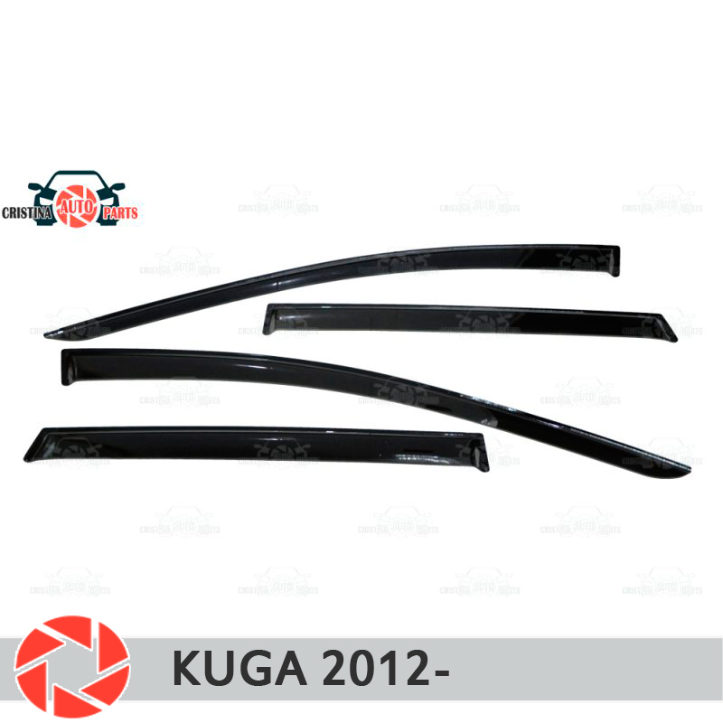 Window deflector for Ford Kuga 2012- rain deflector dirt protection car styling decoration accessories molding one set 12v drl led car light drl daytime running lights for ford focus 2012 2013 with fog light car styling free shipping d20
