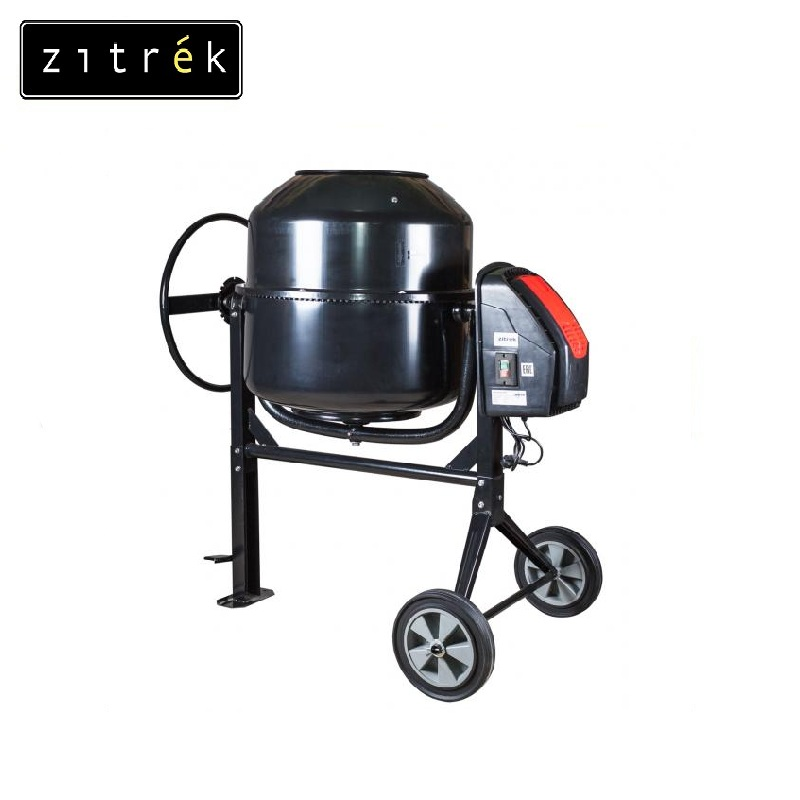 Concrete mixer Zitrek Z200 Job mixer Drum mixer Revolving-drum Tilting concrete Mixer making concrete mixes Mix fertilizer concrete at home