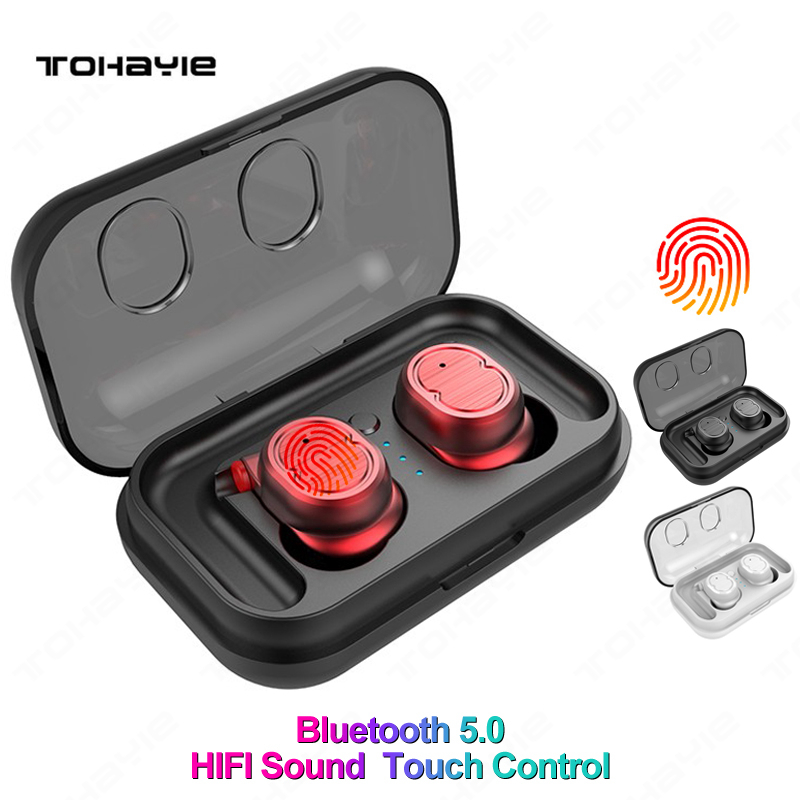 TWS 5.0 Wireless Headphones Bluetooth Earphones Sports Earbuds Stereo Bass Headset Mini With Dual Microphone For Phones bluetooth