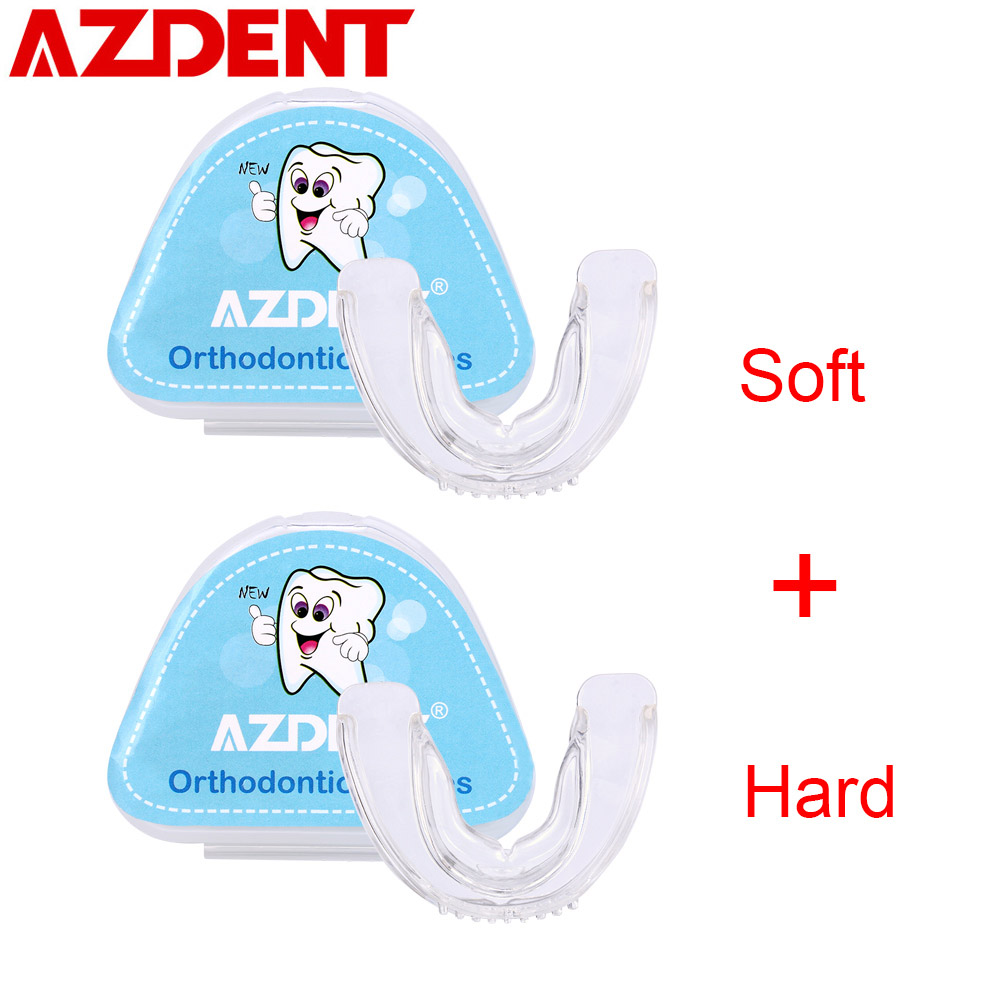 New Dental Orthodontic Brace Buck Teeth Retainers Soft Hard Tooth Protector Mouthpieces Silicone Appliance Trainer Tooth Tray