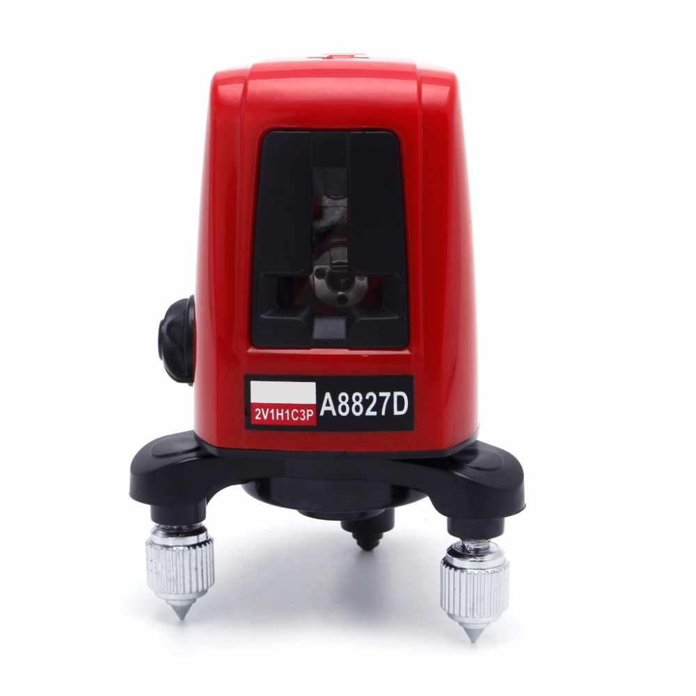 OOTDTY 3 Line 3 dots 360degree Self- leveling Cross Laser Level Red Level Laser Level Tools