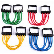 Chest Expander Resistance Cable Bands Puller Exercise Fitness Tube 5 Spring Latex Tube Exercise Training