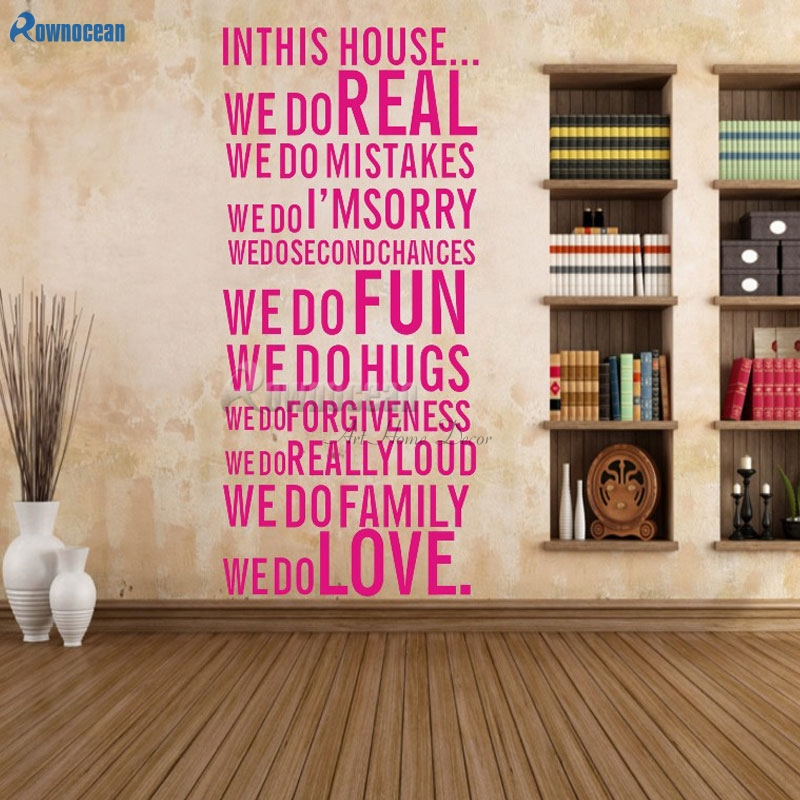 Home Decoration Wall Quote Art Decal Vinyl Sticker Removable Decor ...