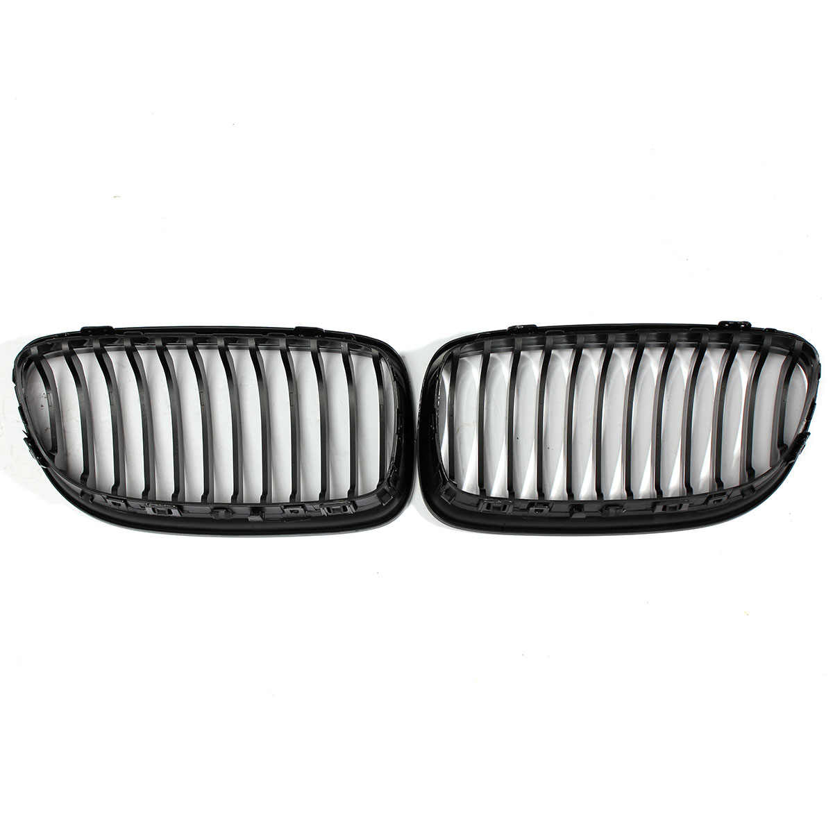 2 Pcs Mobil ABS Gloss Hitam Baking Pernis Hood Ginjal Grille Grill untuk BMW E90 2009 2010 2011 2012
