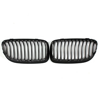 2Pcs Car ABS Gloss Black Baking Varnish Hood Kidney Grille Grill For BMW E90 2009 2010 2011 2012