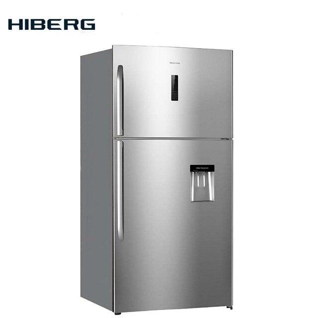 Холодильник  NO FROST HIBERG RFT 72D NFX, с верхней морозильной камерой