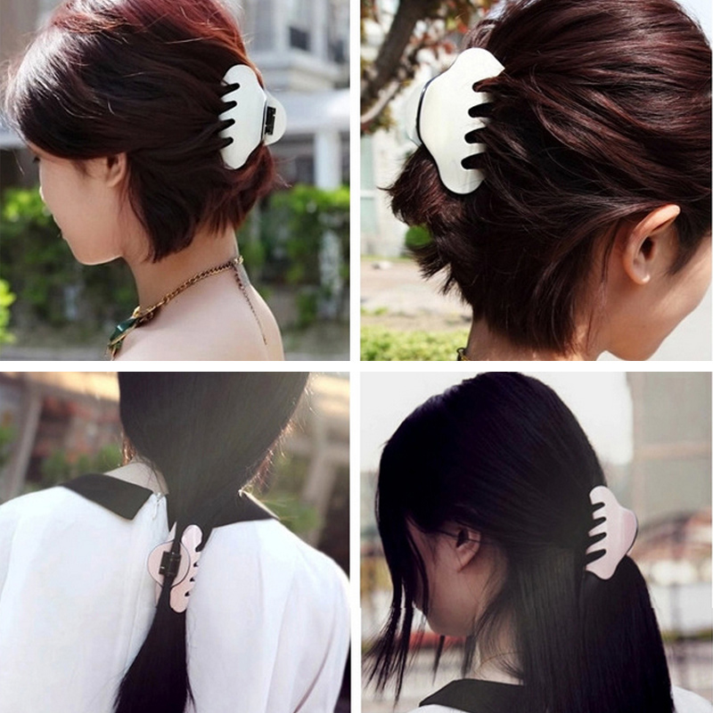 Women Hair Crab Large Size Acrylic Hair Clip Solid Color Hair Claws Women Make UP Washing Makeup Tool Hair Accessories in Women 39 s Hair Accessories from Apparel Accessories