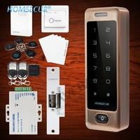 HOMSECUR Waterproof Wiegand 26/34 Anti Vandal 125Khz RFID Access Control System+Backlight