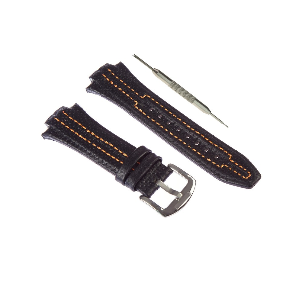 17x27mm Genuine Leather Strap + Gift Tool Fits For Seiko Sportura SNL029P2 - SNL021P1 - SNA595P2 - SNL017P1 strap