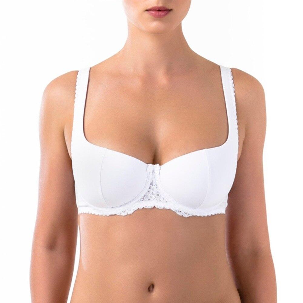 ARDI Big Size Balcony Bras for Women Plus Size Lace Cotton Underwear Big Breast Underwire Bra R2711-04