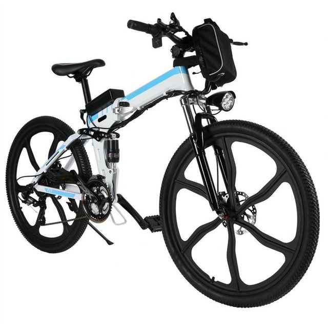 26inch 21 Speed Foldable Electric Power Mountain Bicycle Lithium-Ion Aluminum Alloy Bicycle Battery