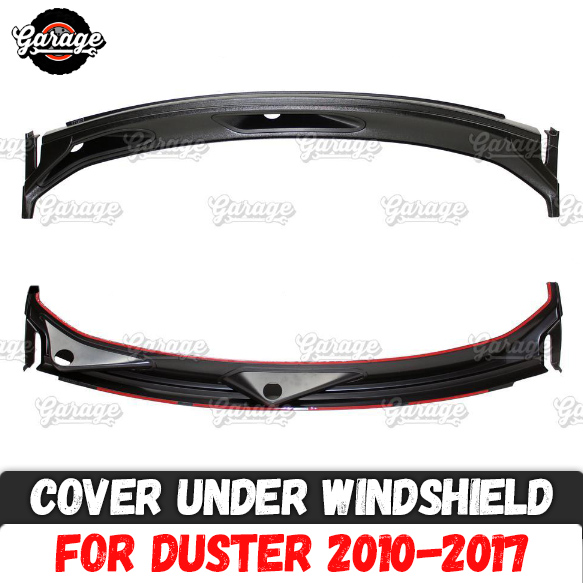 Guard cover jabot for Renault Dacia Duster 2010 2017 under windshield ABS plastic accessories protective car