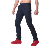 100 Cotton Soft Mens Casual Pants Chinos Men Straight Trousers Solid Color Slim Fit Business Work