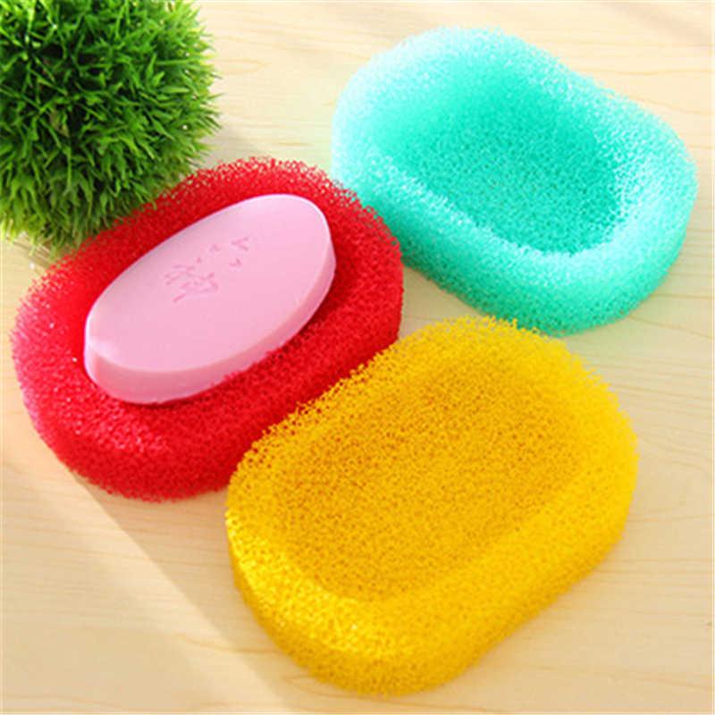 Colore di frutta 4962 spugna creativo scatola di sapone semplice assorbente e facile da asciugare pulito sapone da bagno soap box 10g commercio all'ingrosso