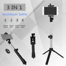 Fghgf T1 Bluetooth Remote Selfie stick Выдвижная мини-монопод Штатив Универсальный Pau de пало Selfie Stick для iPhone 6 7 8