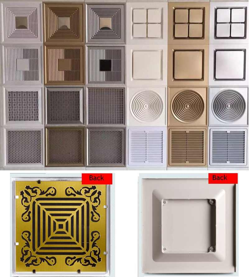 Square ABS Ceiling Diffuser Grilles Ceiling Air Vent