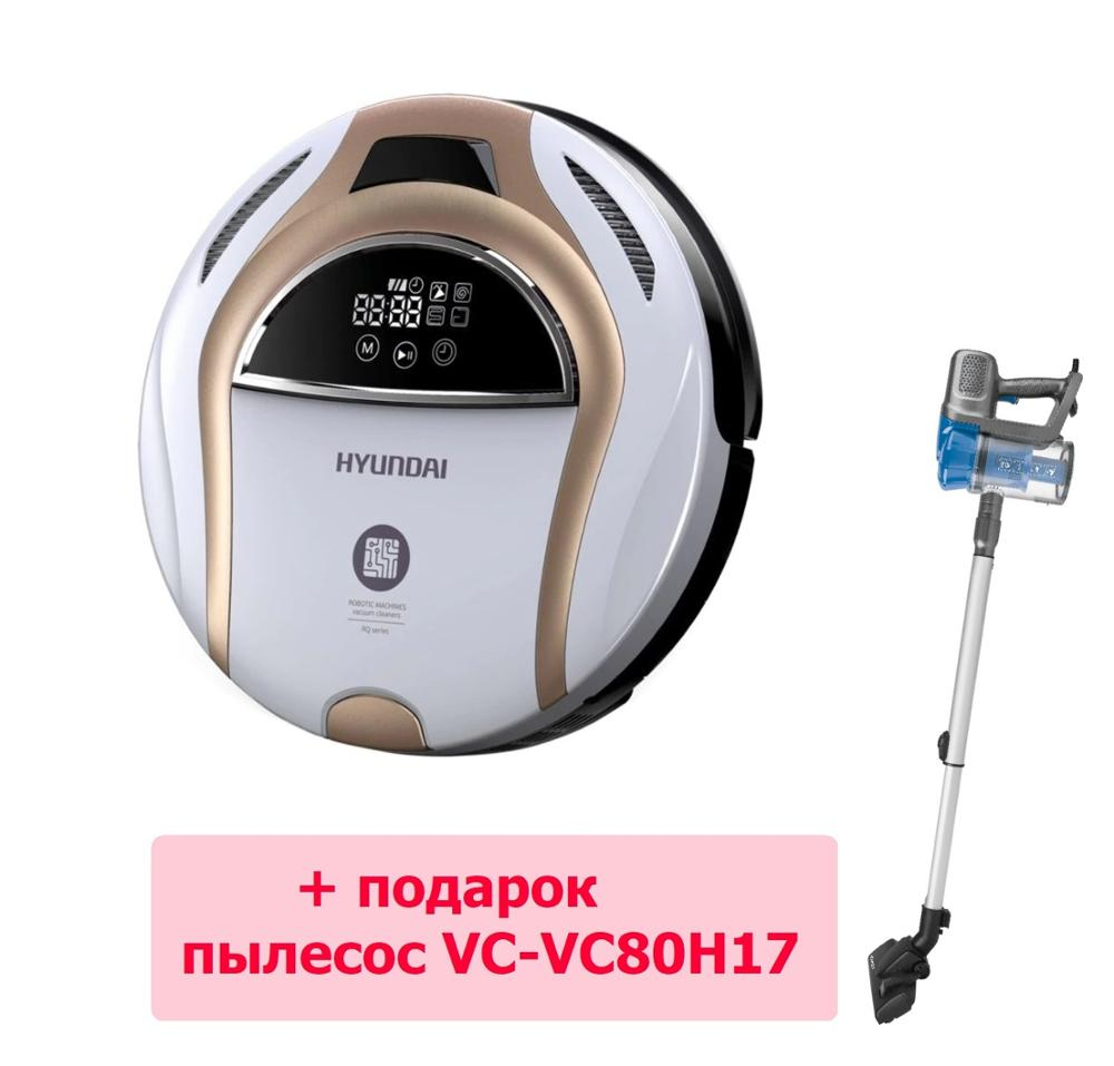Vacuum Cleaner robot Hyundai H-VCRQ80  Robot vacuum cleaner for home Vacuum Cleaner Robot Wireless vacuum cleaner Wireless Robots магнитная лента xiaomi mijia virtual wall для robot vacuum cleaner
