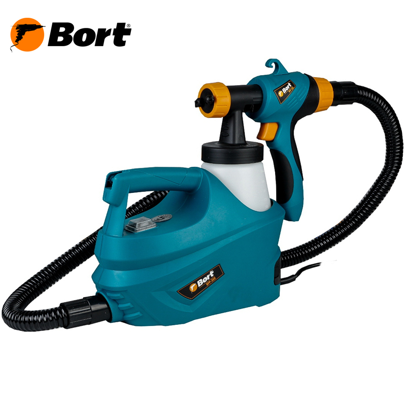 Bort Spray Gun High Power Home Electric Paint Sprayer Nozzle Easy Spraying Professional Air Spray Gravity Feed Airbrush Kit HVLP BFP-350 professional newest dual digital lcd power supply tattoo power supply for tattoo machine gun kit high quality free shipping
