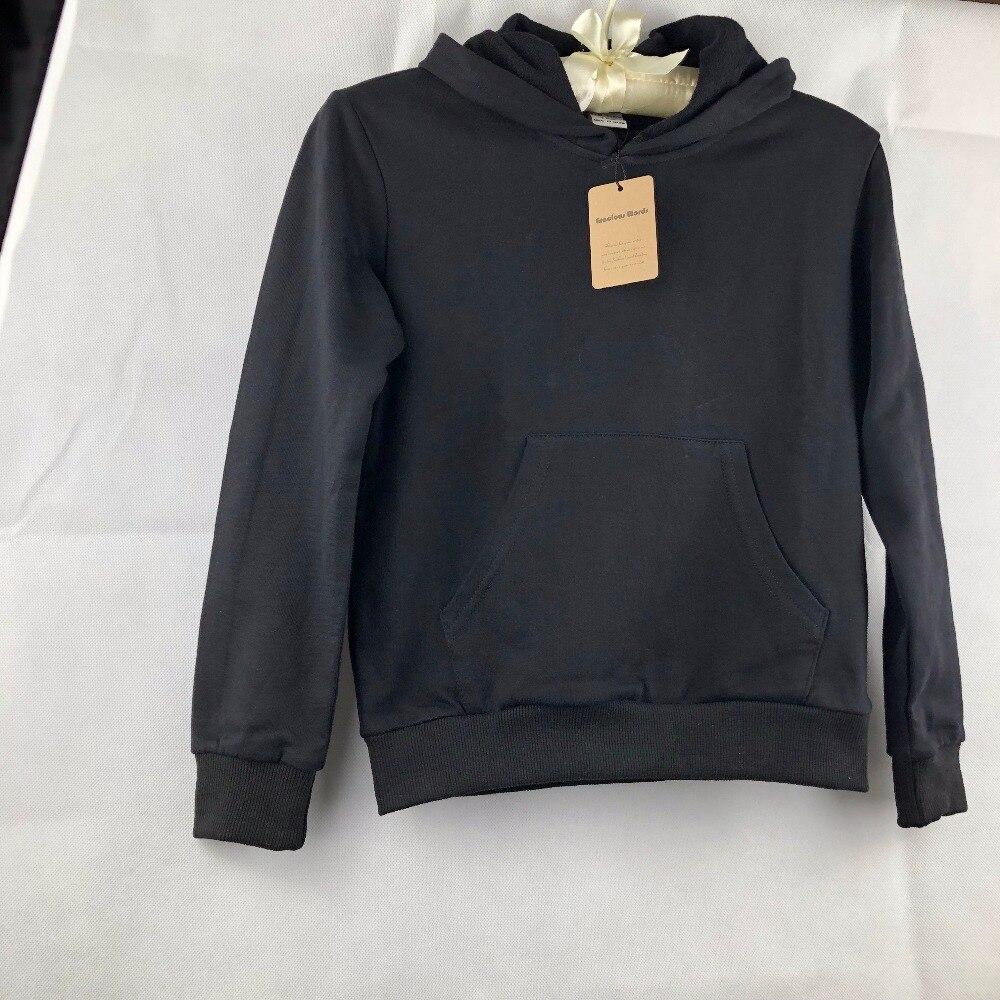 Hoodies For Children Plain Black Sweatshirt Custom T Shirt Kids