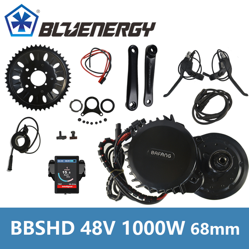 Bafang BBS03 BBSHD 46T Model 48V 1000W Ebike Electric Bicycle Motor Mid Drive Electric Bike Conversion Kit Bottom bracket 68mm 8fun bbshd 48v 1000w ebike electric bicycle motor bafang mid drive electric bike conversion kit c965 display with brake sensor