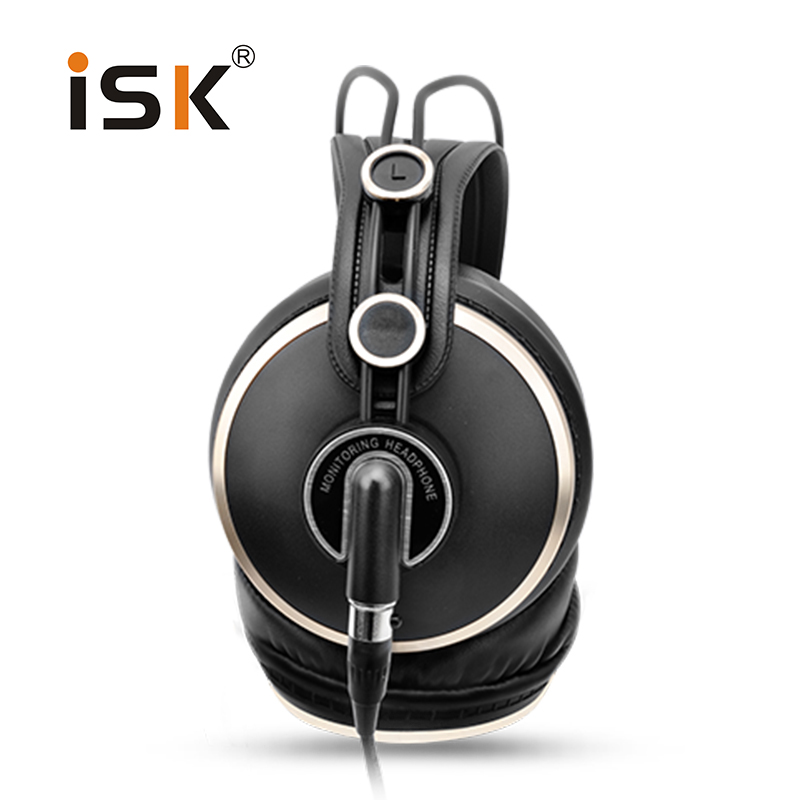 ISK HD9999 Fully enclosed Monitor headphones for audio mixing studio monitoring gaming headset ecouteur Fone de ouvido 2018