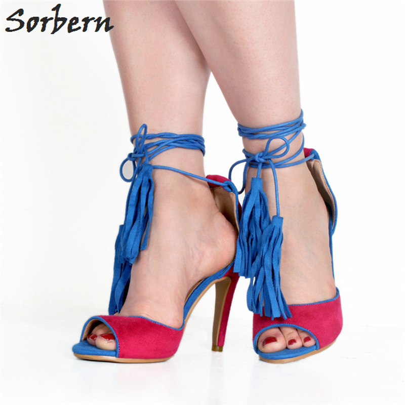 Sorbern Fashion Shoes Party Woman Sandals Open Toe High Heels Back Zipper Summer Style Shoes Chaussures Femme Ete 2018Sorbern Fashion Shoes Party Woman Sandals Open Toe High Heels Back Zipper Summer Style Shoes Chaussures Femme Ete 2018