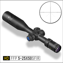 Discovery FFP Tactical Mil-Mil Rifle Scope HD 5-25x50SFIR 1/10 Mil Adjustments First Focal Reticle with extended sunshade цена и фото