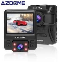 AZDOME GS65H Originale Mini Dual Lens Auto DVR Dash Cam Anteriore Full HD 1080 P/Posteriore 720 P Video registratore Videocamera per auto di Visione Notturna GPS