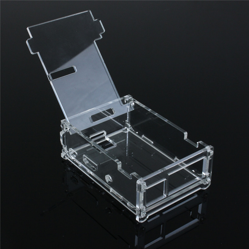 DIY NEW Transparent Clear Acrylic Case Shell Enclosure Box for Raspberry Pi Model B+ Not Fit Fan Electrical Connector