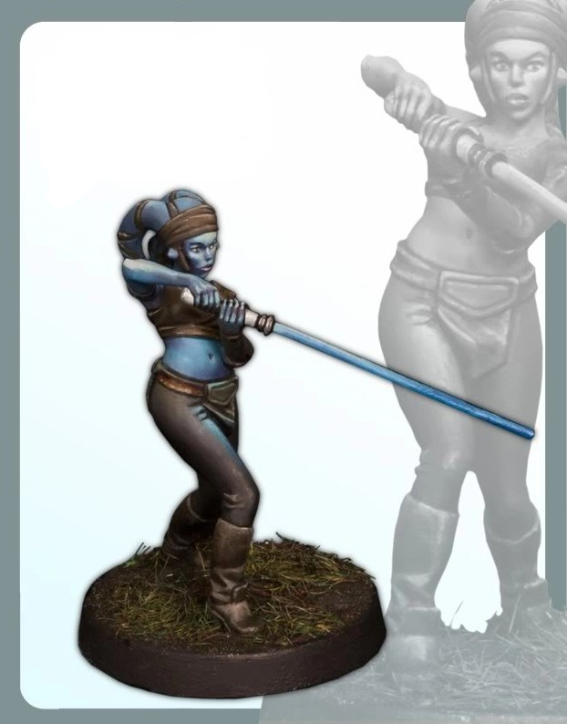 Classic 30MM Star Wars  AAYLA SECURA Miniatures Unpainted  Figure Resin Model Kit Free Shipping