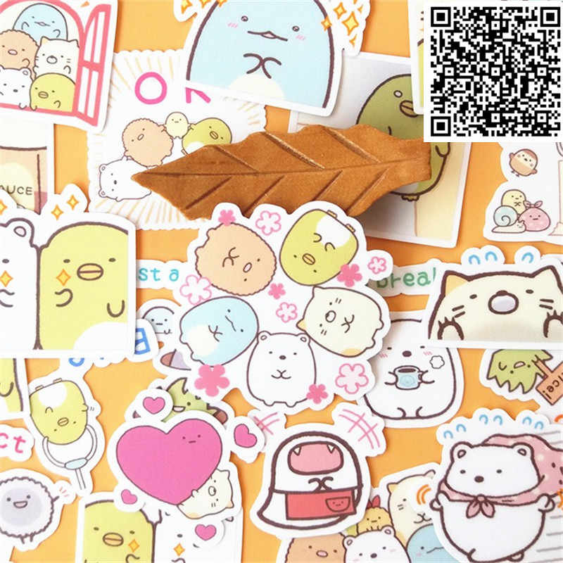 Cute Cartoon Scrapbooking Album Diary Book Decal DIY Paper PVC Stickers Supplies