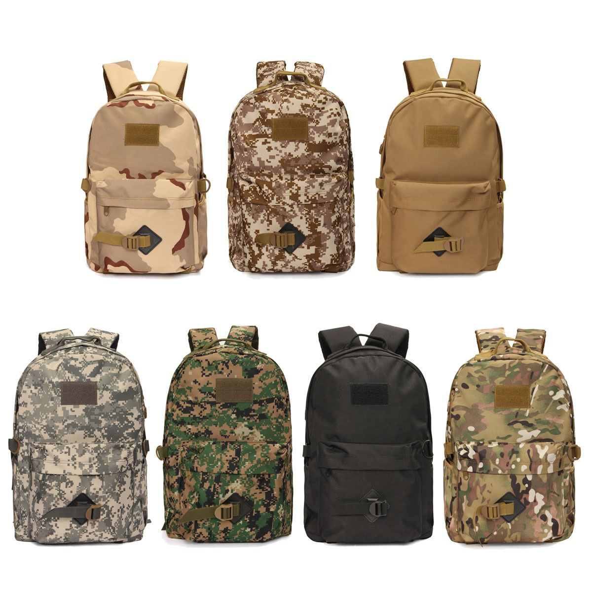 30L Outdoor Tactical Backpack Camouflage bag Shoulder Nylon Bag Waterproof Rucksack backpack For Camping Hiking Travel Climbing sports travel airsoft tactical knapsack camping climbing backpack 600d nylon hiking hunting vintage military bag camouflage
