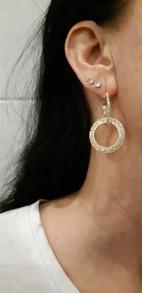 Elegant Crystal Dangle Earrings - 25 Designs photo review