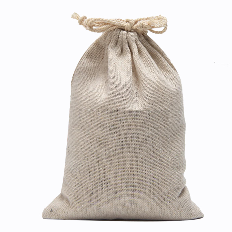 Us 14 93 6 Off Large Linen Cotton Muslin Bags With Drawstring 20x30cm 7 8