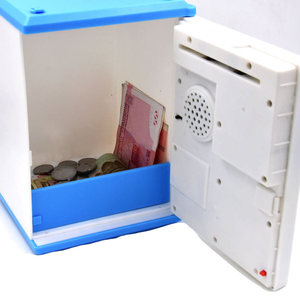 Image 5 - New Creative Fingerprint Electronic Piggy Bank ATM Password Money Box Cash Coin Saving Box For Kids Birthday Christmas Gift