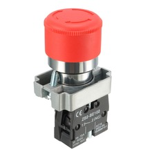 UXCELL 1PCS 22mm Mounting Hole Red Sign Emergency Stop Push Button Switch Switch Accessories Electrical Equipment Supplies 1pcs red sign emergency stop push button switch with key 660v 10a brand new