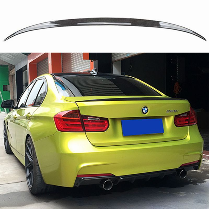 F30 Carbon Fiber Rear Trunk Spoiler Wing PSM Style For BMW F30 3 Series Saloon / F80 M3 2012 + for 12 16 bmw 3 series f30 4dr trunk spoiler oem painted match a83 glacier silver