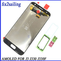 100% Amoled Display For Samsung Galaxy J3 2017 J330 J330f Screen Lcd Display lcd digitizer Assembly Replacement Lcd digitizer