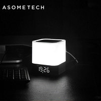 Wireless Touch Sensor Bluetooth Speaker For Xiaomi Xiomi IPhone AUX LED Lamp Light Alarm Clock Stereo