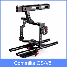Commlite CS-V5 Aluminum Alloy Camera Video Cage Handle Grip for Sony