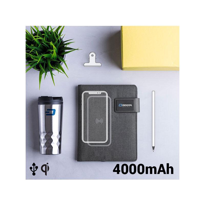 CUADERNO DE NOTAS CON batterie externe 4000 MAH 16 GB (20 HOJAS). ENVIOS À PARTIR de ESPANA