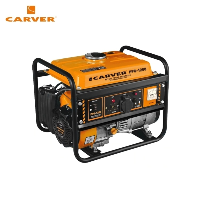 Petrol power generator CARVER PPG-1200 Power home appliances Backup source during outages Benzine stations