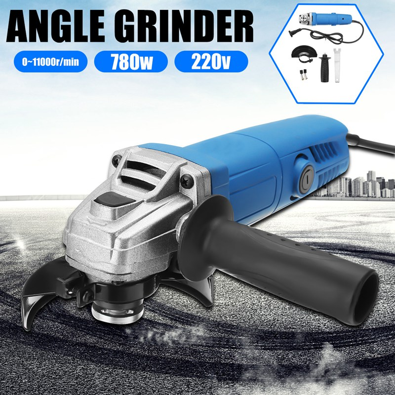 Doersupp 220V 780W Portable Mini Electric Angle Grinder With Side Handle Metal Cutting Machine Drill Engraver Rotary Power Tools
