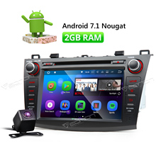 Camera & Eonon 8″ Android 7.1 Car CD DVD Player GPS Navigation For Mazda 3 2010 2011 2012 2013 FM Radio Bluetooth Touch