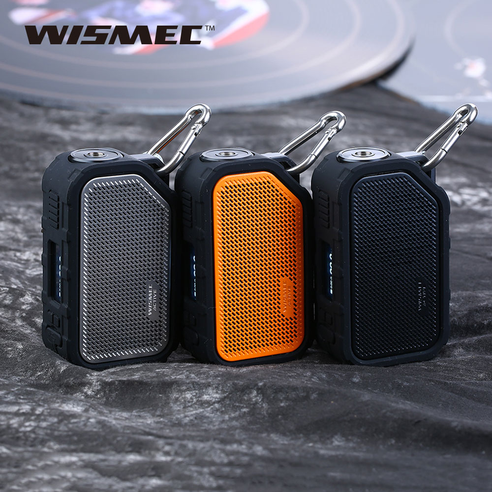 цена 100% Original Wismec Active Mod Box 80W Vape Box with Bluetooth Speaker Waterproof/shockproof Electronic Cigarette Vape Mod Box