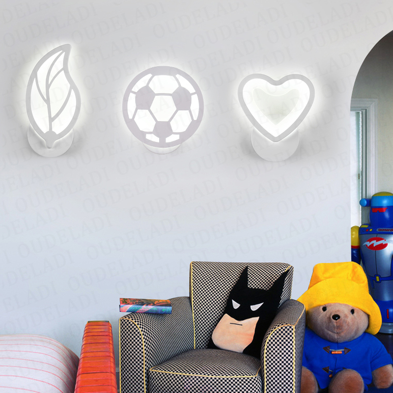 12W LED Acrylic wall light Children's room bedside bedroom wall lamps arts creative Corridor Aisle Sconce Decor AC85-265V 2