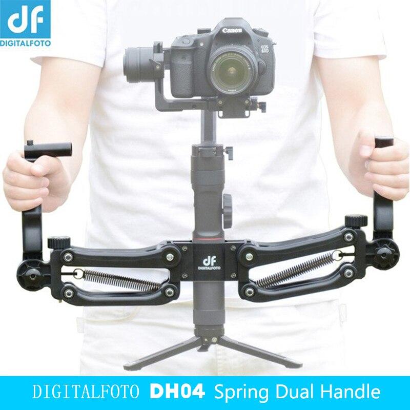 DF DIGITALFOTO DH04 3 assi Gimbal stabilizzatore Primavera Doppia Maniglia Manubri 4.5 kg peso orso per la macchina Della Gru 2 RONIN S liscio 4 OSMO 2