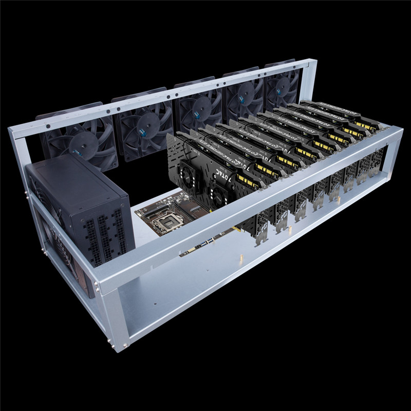 1STPLAYER 8 Graphics Card GPU Mining Machine Frame Mining Case Computer BTC LTC Coin Miner Server Case Support 5 Cooling Fans new 4u industrial computer case parkson 4u server computer case huntkey baisheng s400 4u standard computer case